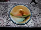 Vintage Noritake M Japan DOUBLE HANDLE BOWL LUSTER IN BLUE RARE HAND PAINTED