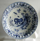 18TH CENTURY ENGLISH OR DUTCH TIN GLAZED BLUE AND WHITE DELFT CHARGER CIRCA 1720