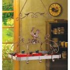 Collectilbe Country Rooster Theme Kitchen Rack Storage Organize Accent New