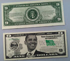 BARACK OBAMA 9 Dollar 44th President - LOT OF 10 BILLS