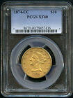 1874-CC Eagle $10 Gold Liberty PCGS XF-40 Beautiful Coin! Very RARE!