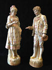 Vintage Hand Painted Bisque European Courting Couple 18