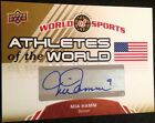 Mia Hamm 2010 Upper Deck World Of Sports Auto Autograph Olympic Soccer AW-11