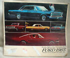 1965 FORD...SALES BROCHURE...5 DIFFERENT TOTAL PERFORMANCE CARS