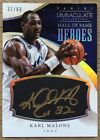 2013-14 IMMACULATE KARL MALONE AUTO AUTOGRAPH HALL OF FAME HEROES 32 60 1 1 JAZZ