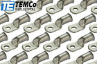 """50 Lot 2/0 Ring 5/16"""" Hole Terminal Lug Tin Plated Copper Uninsulated AWG Gauge"""