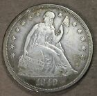 1849 Seated Liberty Silver Dollar! Rare Date,Almost Uncirculated! sd650