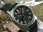Wenger Swiss Military 70398 Swiss Chronograph Leather Strap Mens 100M Watch