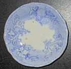 c1880 English Lavender Transfer Butter Pat, Staffordshire, Sweet