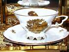 Mitterteich Bavaria Germany COURTING COUPLE WHITE GOLD Tea Cup and Saucer