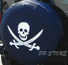 SPARE TIRE COVER 267 29 white Pirate Skull  knives on tracker black zs98316p