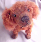Reddish excelsior stuffed jointed old mohair dog - German(?) Antique realistic!