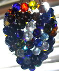 Antique Hand Blown Glass Grape Cluster Fruit Swag Lamp shade Chandelier Retro