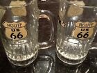 Famous ROUTE 66 Highway - The Mother Road  2 BEER MUGS bar man cave stein
