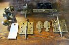 Antique Eastlake Style Doorknob & Mortise Lock Set with Escutcheons, and Hinges