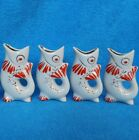 Rarity Set Vintage Soviet Fish with 4 Shots Porcelain 1960s Original Polonne ZHK