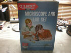 1930's Gilbert Microscope & Lab set, # 13022, rare & complete.