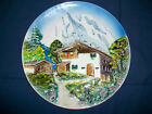 Made in Western Germany Plate Majolica Alps Mountains & House 11 3/4