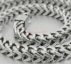 men's exquisite silver tone stainless steel heavy solid necklace chain 9mm 24