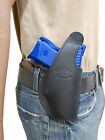New Barsony Black Leather OWB Belt Holster Ruger Compact Sub Compact 9mm 40 45