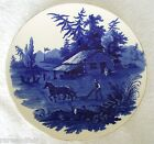 Cauldon England flow blue wall plaque - ca 1905 - 1920