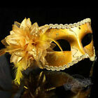 New Women's Feather Party Ball Masquerade Fancy Dress Masks With Flower