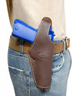 New Barsony Brown Leather Belt OWB Holster for Springfield Full Size 9mm 40 45