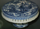 BLUE TRANSFER WARE~CAKE PLATE Pierced/Perferated Edge~ SPODE OR MEISSEN?