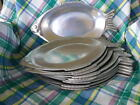 FISH PLATTERS/PLATES  Lg Lot-- ELEVEN  Made by York MetalCrafters USA  VINTAGE