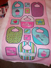 ORGANIC - Sweet Pea LITTLE ONE Baby Bib PANEL - Robert Kaufman