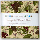 Through the Winter Woods Charm Pack 42 die cut 5 inch squares Holly Taylor Moda