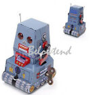 Vintage Tank Robot Wind Up Clockwork Tin Toy Kids Child Party Favor Xmas Gift