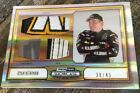 Ryan Newman 38 45 2011 Press Pass Showcase Race Used Sheet Metal Firesuit Shoe