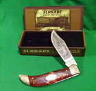 2007 Hand made Schrade pocket knife Grisly Bear wooden Case Free Shipping in USA