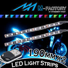 For Honda Motorcycles 2x 190mm RGB Under Frame Engine LED Lighting Strip
