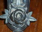 antq LARGE ROSE LEAVES silver figural napkin ring/holder Winsted Silverplate Co