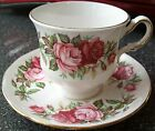 RIDGWAY POTTERIES (1955-64) QUEEN ANNE Porcelain Tea Cup/Saucer~Red & Pink Roses