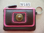 W185 Team Realtree 12 Gauge Brown & Pink Coin Purse Key Chain ID Holder Wallet