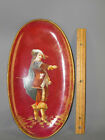 CIE CHOISY LE ROI FRENCH HAND PAINTED OVAL FIGURAL PLATE TRAY