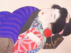 RARE 1900'S ANTIQUE JAPANESE EROTIC ART/SHUNGA, HAND PAINTED ON SILK  - GIFT?