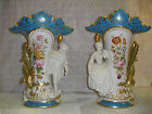 Pair of Old Paris Urn - Hand Crafted - Hand Painted