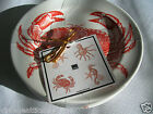 Fifth 222 Coastal Life Sea Holiday Shells Red  4 PC Appetizer Tea Plates