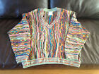 Unique Vintage Coogi Sweater Men's Large Multi-color Biggie