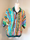Rare Vintage Coogi Sweater Men's Medium Polo Multi-color Biggie Great Color