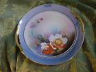 Vintage Noritake Hand painted Handled serving Plate Blue with Various  flowers