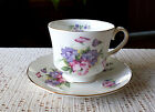 Vintage Duchess July Pink & Purple Flowers & Gold Trim Footed Cup & Saucer
