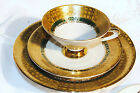 VINTAGE R W BAVARIA GERMANY IVORY GOLD YELLOW GREEN TEA CUP SET w PLATE