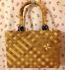Rare Authentic Tiki Vintage Hale Manucraft 1940-50S Hawaiian Luahala Woven Purse