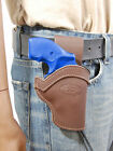 NEW Barsony Brown Leather Western Belt Loop Holster Rossi EAA 22 38 357 Snub 2