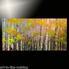 LARGE forest painting TEXTURE trees ORIGINAL wall ART summer AUTUMN huge TATIANA